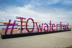 Photo Credit: The Star | A photo of the #TOWaterfront sign at The Waterfront in Toronto.